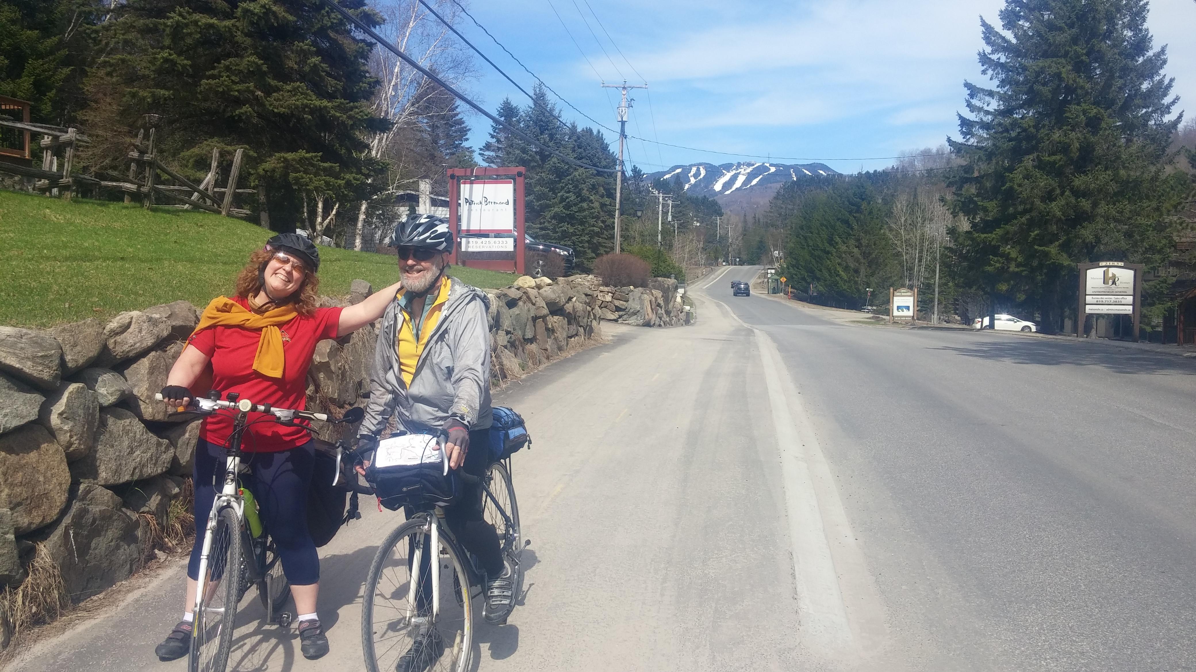 1e sortie vélo de la saison à Tremblant